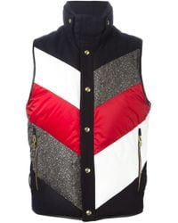 Moncler Gamme Bleu | Red Slim-fit Quilted Pinstriped Wool Down Jacket for Men | Lyst