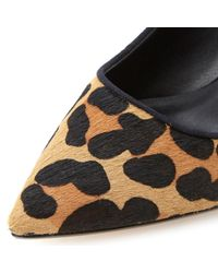 Dune - Multicolor Maybell Leopard Pony Heeled Sandals - Lyst