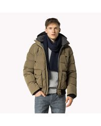 Tommy Hilfiger - Natural Down Bomber for Men - Lyst
