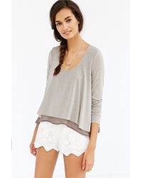 Kimchi Blue | Gray Double Layer Float On Top | Lyst