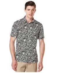 Perry Ellis | Black Reverse Floral-print Shirt Big And Tall for Men | Lyst