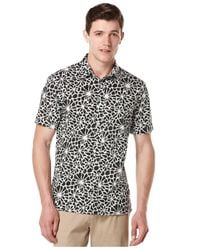 Perry Ellis - Black Reverse Floral-print Shirt Big And Tall for Men - Lyst