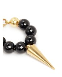Ela Stone | Metallic Ana Agate Bead Spike Earrings | Lyst