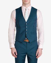 Ted Baker | Blue Wool Suit Waistcoat for Men | Lyst