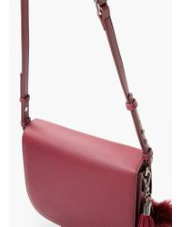 Mango - Purple Flap Cross-body Bag - Lyst