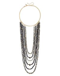 INC International Concepts | Gold-tone Metallic Bead Multi-row Collar Necklace | Lyst