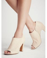 Free People - White In The Spirit Heeled Ankle Boot - Lyst