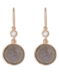 Irene Neuwirth - Metallic Gemstone Double-Drop Earrings - Lyst