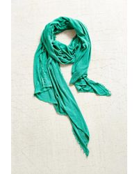 Urban Outfitters | Green Raw-edge Jersey Scarf | Lyst