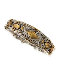 Konstantino | Brown Myrmidones Mens Filigree Link Id Bracelet for Men | Lyst