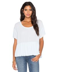 Bella Luxx | Blue Pleated Woven Tee | Lyst