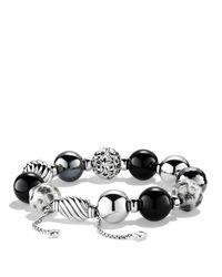 David Yurman - Metallic Elements Bracelet With Black Onyx & Hematite - Lyst