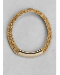 & Other Stories - Metallic Woven Metal Choker - Lyst