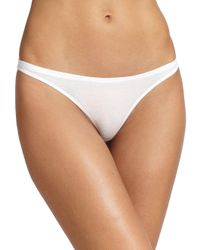 Skin | White Organic Pima Cotton Thong | Lyst