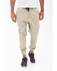 Forever 21 - Natural Woven Drawstring Joggers for Men - Lyst
