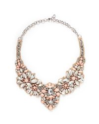Valentino - Multicolor Satin Back Opal Strass Necklace - Lyst