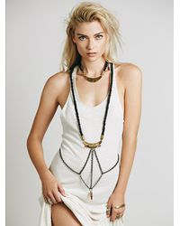Free People | Black Sweet 1985 Womens Bala Leather Body Piece | Lyst