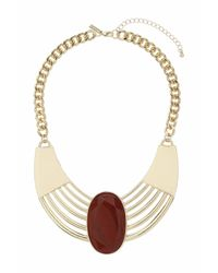 TOPSHOP | Red Semi Precious Grid Collar | Lyst