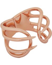 Balenciaga - Pink Hinged Cage Cuff - Lyst