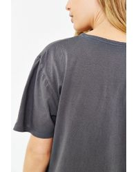 BDG - Black Pigment-dyed Unisex Wide Neck Tee - Lyst