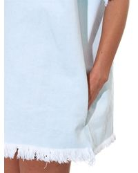 Marques'Almeida - Blue Frayed-Edge Denim Shift Dress - Lyst