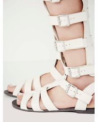 Free People - Gray Republik Vegan Gladiator Sandals - Lyst