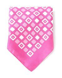Kiton | Pink Square Print Handkerchief for Men | Lyst