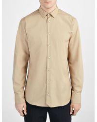 JOSEPH - Brown Poplin John Shirt for Men - Lyst