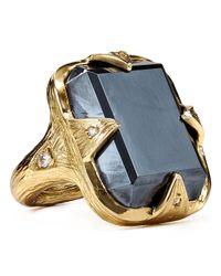 Melinda Maria - Metallic Valentine Ring - Lyst