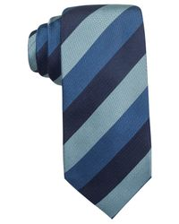 Vince Camuto | Blue Marino Stripe Slim Tie for Men | Lyst