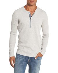 Bonobos | Gray Slim Fit Waffle Knit Henley for Men | Lyst