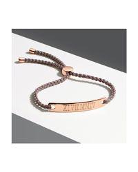 Monica Vinader - Pink Linear Friendship Bracelet - Lyst