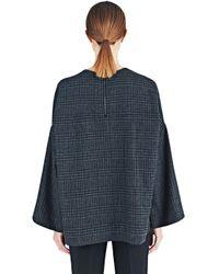 Lanvin - Blue Tartan Wool Top - Lyst
