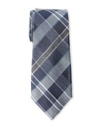 Vince Camuto | Blue Canno Plaid Silk Tie for Men | Lyst