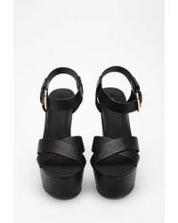 Forever 21 | Black Platform Ankle Strap Sandals | Lyst