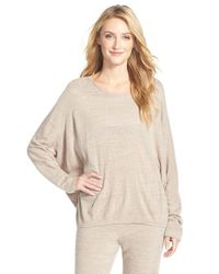 Natori - Natural 'cosi' Lounge Top - Lyst