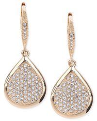 Judith Jack - Metallic Gold-Plated Crystal Pavé Teardrop Earrings - Lyst