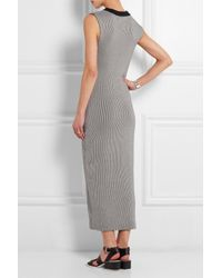 JOSEPH | Black Rose Striped Cotton Dress | Lyst
