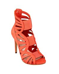 Guess | Orange Aela Cutout Stilettos | Lyst