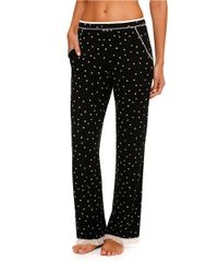 Kensie | Black Lace-trimmed Lounge Pants | Lyst