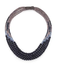 Peserico | Blue Long Beaded Necklace | Lyst
