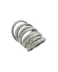 St. John - Metallic Swarovski Crystal Cocktail Ring - Lyst