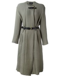 Isabel Marant - Green Ribbed Coat - Lyst