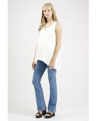 TOPSHOP - White Maternity V-Neck Tunic - Lyst