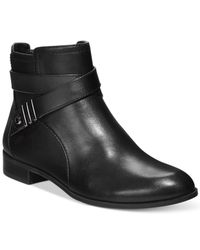 Anne Klein | Black Kael Booties | Lyst