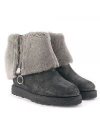 Ash | Gray Yorki Softy Fur Wedge Boots | Lyst