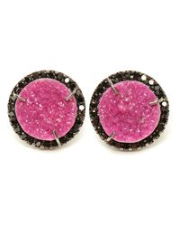 Kimberly Mcdonald | Pink Cobalto Calcite And Diamond Stud Earrings | Lyst
