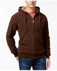 Weatherproof - Brown Vintage Sherpa Fleece Hoodie for Men - Lyst
