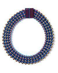 Bex Rox | Blue Frida Collar Necklace | Lyst
