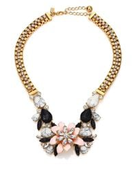 kate spade new york | Multicolor Glossy Petals Statement Bib Necklace | Lyst